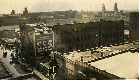 The National Pencil Company building around 1913