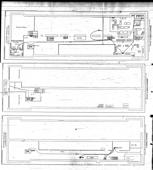 Floor plan of the National Pencil Co. - click for high resolution