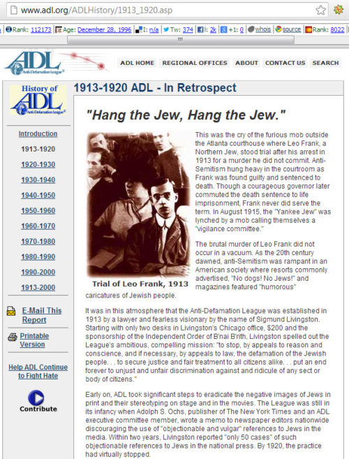 Out-and-out fraud from the ADL