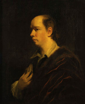 Painting of Oliver Goldsmith by Sir Joshua Reynolds (1769).