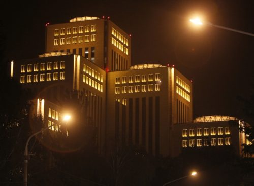 The Jewish Menorah Center in Dnipropetrovsk, Ukraine, in October 2012, just after it opened. It's the world's biggest Jewish center.