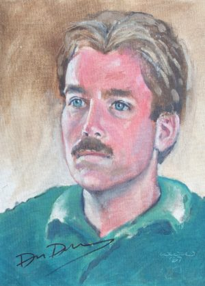 A sunburned David Duke, painted from life 10/17/1987 by Will Williams