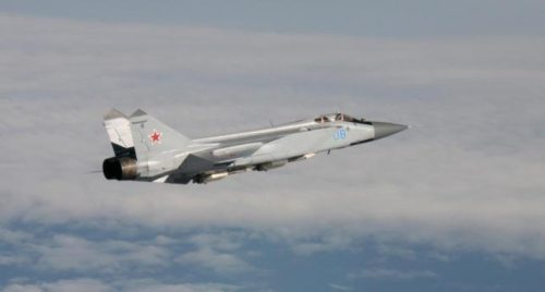 A Russian Air Force Mig 31