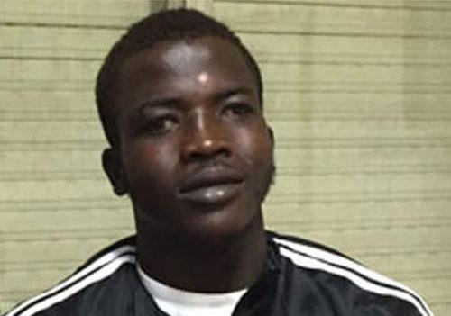 Mamadou Kamara in court.