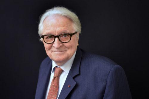 Paris: Roland Dumas, L'ancien ministre des affaires etrangeres chez LCI