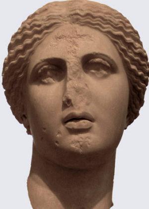 Aphrodite defaced
