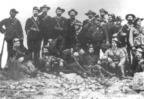 Boer guerilla leader General Jan Smuts with his commando unit while operating against the British in the Cape Colony. Smuts later became prime minister of unified South Africa.