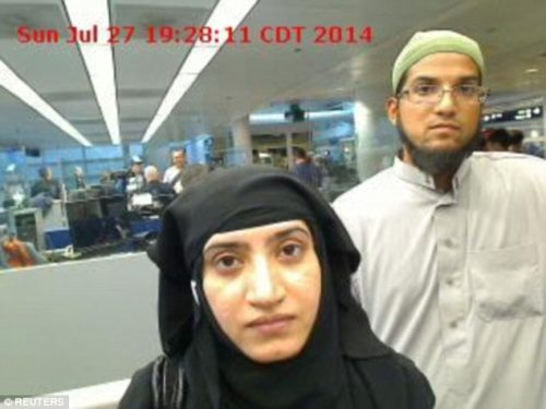 An Israeli company may have helped the FBI in unlocking the iPhone used by one of the San Bernardino, California shooters. Syed Farook and his wife (both pictured) died in a gun battle with police after killing 14 people and injuring 22 in California, in December.