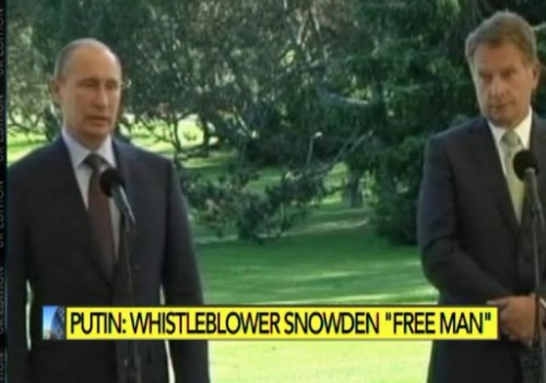 Putin on Snowden: a free man