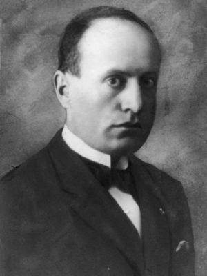 Italian leader Benito Mussolini