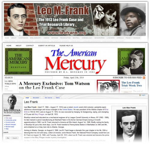 Just three of the increasingly popular sites which tell the truth about the Frank case.