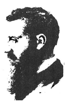 "Theodor Herzl, one of the ""founding fathers"" of Israel. He dreamed of an all-Jewish state from which the Gentile world would be ruled, in fulfillment of Jewish ""prophecies."""