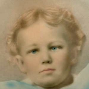 William Pierce as a young child