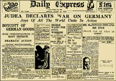 "ANAL declared a total economic and political war against Germany, and the propaganda tactics it used in that war immediately manifested all of the viciousness and brazenness of which the Jews were capable. The lies about conditions in Germany and the actions of the German government which Untermyer and others began disseminating as early as the summer of 1933, at a time when Jews were free to come and go in Germany, to use their wealth as they wished, or to leave and take it with them, gave a foretaste of the mendacious ""gas chamber"" propaganda which was to come later."
