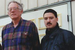 Dr. William Pierce with H&D's Editor Mark Cotterill – Hillsboro, West Virginia, 1993