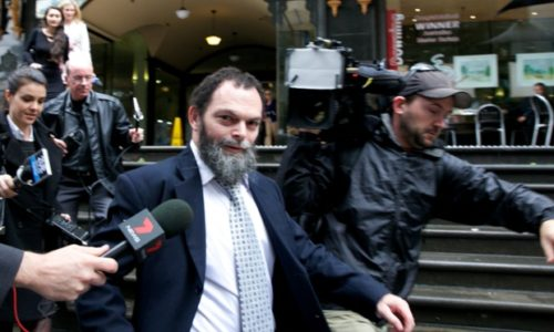 Daniel Hayman leaves court in Sydney in June 2014 after pleading guilty to indecent assault.