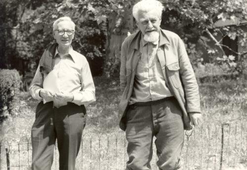 Niko Tinbergen (left) and Konrad Lorenz