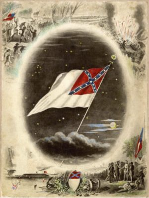 Confederate Flag with Battle Scenes, ca. 1875