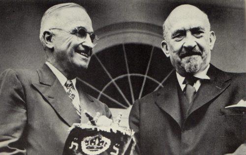 Harry Truman and Chaim Weizmann