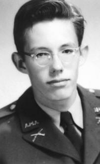 William Pierce as a student at military school