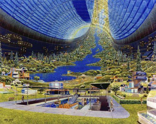 Torus Interior Interior view. Art work: Don Davis. Credit: NASA