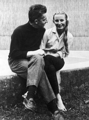 Herbert Von Karajan and Elliette Mouret