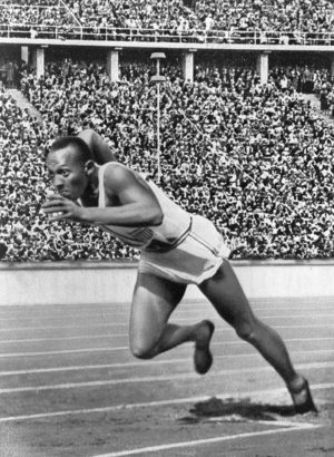 Jesse Owens at the 1936 Olympic Games in Berlin