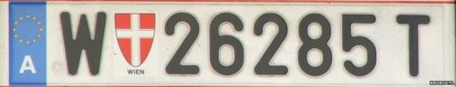 Normal number plates in Austria -- as shown -- are generated automatically by region, but some motorists choose their own.