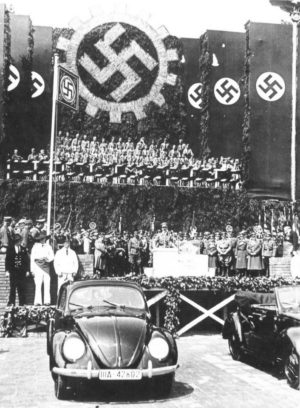 Adolf Hitler at the presentation of the Beetle