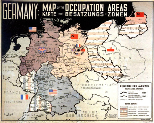 Occupation zones of Germany after World War 2