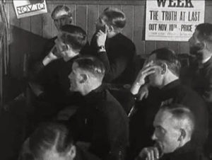 Blackshirts listening to Mosley at Belle Vue