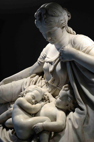 Latona and Her children, Apollo and Diana - William Henry Rinehart