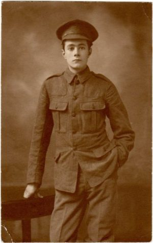 A studio portrait of Henry Williamson taken in January 1915 while he was on invalid leave from the Western Front