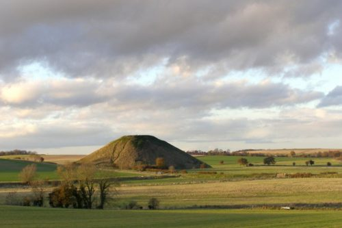 Silbury Hill in Wiltshire England