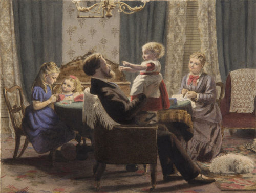 A Family In A Drawing Room