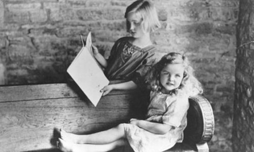 Unity (nine) and Jessica (six) Mitford