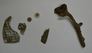 Items removed from the location of the Canada warehouse at Auschwitz-Birkenau memorial site