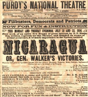 Walker's exploits were heralded far and wide, as this playbill from a New York theatre illustrates.