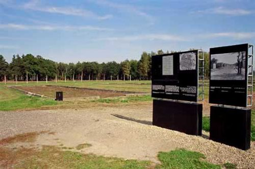 This is a 2005 photo of the location of the Canada warehouse at Auschwitz-Birkenau death camp.