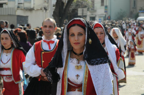 Sardinians in traditional garb