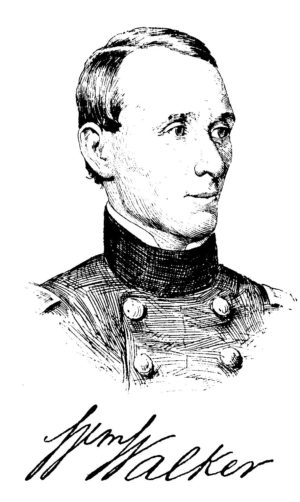 A contemporary portrait of Walker in uniform
