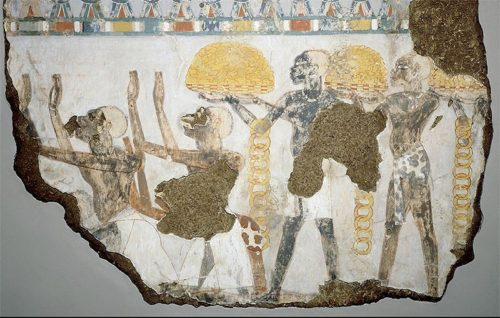 Above: Nubians bringing tribute to the pharaohs, Tomb of Sobekhotep, twelfth dynasty, circa 1850 BC. From The Children of Ra.