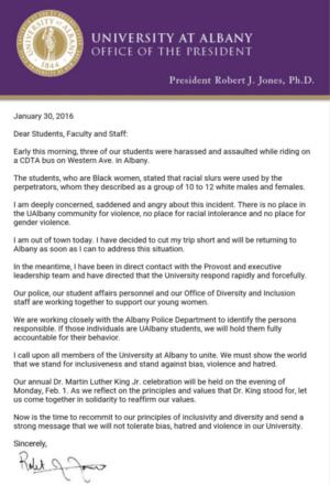 Jones's letter