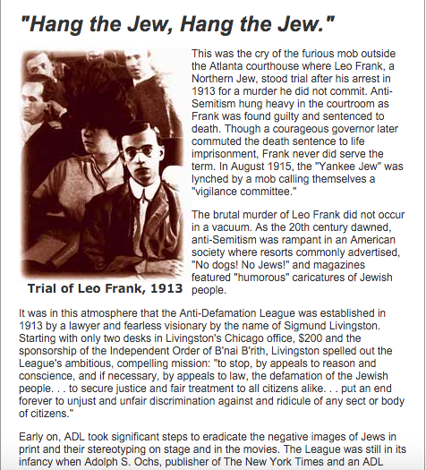 More claims about the Frank case, echoing the Dinnerstein fabrications, from the ADL Web site.