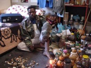 Sangoma_Pretoria_With_Pharmacopia_AfricanCrisisJanLamprechtPermission[6]